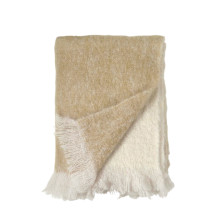 Dip Dye Mohair Throw Gold 50x70 | Gracious Style