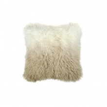 Dip Dye Curly Sheepskin Pillow Gold 18x18 | Gracious Style