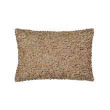 Pomegranate Beaded Pillow Gold 8x12 | Gracious Style