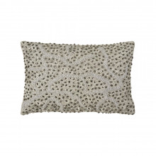 Pomegranate Beaded Pillow Silver 8x12 | Gracious Style