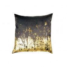 Distressed Metallic Viscose Print Pillow Chocolate 20x20 | Gracious Style