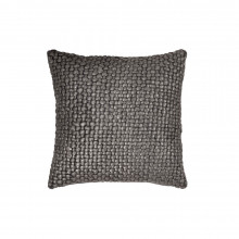 Metallic Palm Basketweave Pillow Charcoal 18x18 | Gracious Style