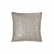 Metallic Palm Basketweave Pillow Linen 18x18 | Gracious Style