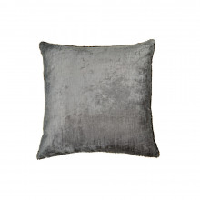 Velvet and Bead Pillow Grey 18x18 | Gracious Style
