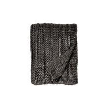 Rib Knit Throw Charcoal 50x70 | Gracious Style