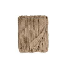 Rib Knit Throw Gold 50x70 | Gracious Style