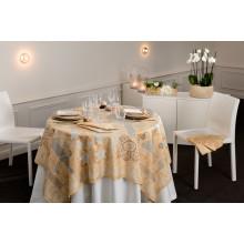 Rialto Champagne Print Table Linens | Gracious Style