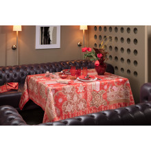 Rialto Red Print Table Linens | Gracious Style