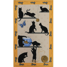 Chat Pitre Jaune 20 X 31 in Tea Towel, Set of 3 | Gracious Style