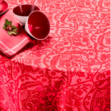 St Tropez Red Print Table Linens | Gracious Style