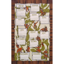 Calendrier Jungle 2018 Original 20 In X 31 In Tea Towel, Set of 3 | Gracious Style