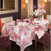 Grandes Palmes Pink Print Table Linens | Gracious Style