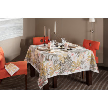 Grandes Palmes Beige Print Table Linens | Gracious Style