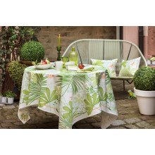 Grandes Palmes Anise Print Table Linens | Gracious Style
