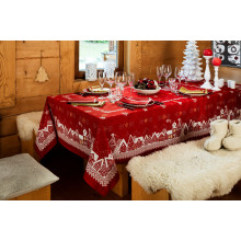 Nuit Etoilee Red Print Table Linens | Gracious Style