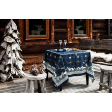 Nuit Etoilee Blue Print Table Linens | Gracious Style