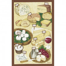 Les Fromages Original 20 X 31 in Tea Towel, Set of 3 | Gracious Style