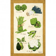 Legumes Verts Original 20 X 31 in Tea Towel, Set of 3 | Gracious Style