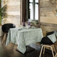 Marella Vert De Gris Print Table Linens | Gracious Style
