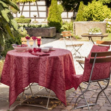 Marella Red Print Table Linens | Gracious Style
