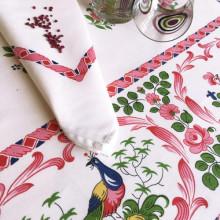 Les Coqs Original Print Table Linens | Gracious Style