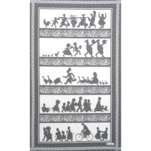 Silhouettes Grey 20 X 31 in Tea Towel, Set of 3 | Gracious Style