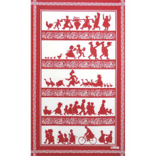 Silhouettes Red 20 X 31 in Tea Towel, Set of 3 | Gracious Style