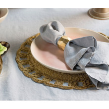 Aria Silver Placemats and Coasters | Gracious Style
