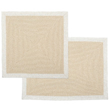 Elene Cream Placemats and Coasters | Gracious Style