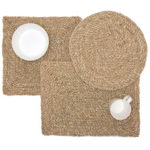 Lucian Aged Seagrass Placemats and Coasters | Gracious Style