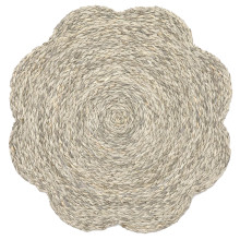 Vera Mixed Gray Flower Placemats and Coasters | Gracious Style