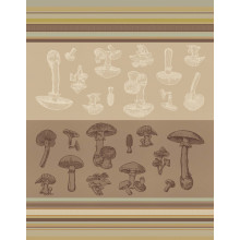 Borgetto Mushroom Kitchen Towels, Set of 6