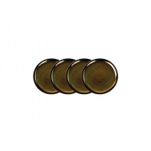Coaster Set/4 Gold Charcoal | Gracious Style