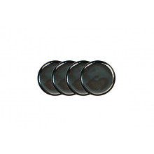 Coaster Set/4 Platinum Charcoal | Gracious Style