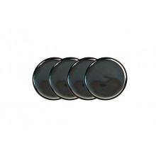 Small Plate Set/4 Platinum Charcoal | Gracious Style