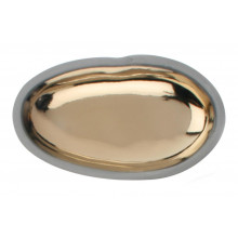 Pebble Dish W/Charcoal Clay Body Gold Large | Gracious Style
