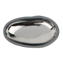 Pebble Dish W/Charcoal Clay Body Platinum Large | Gracious Style