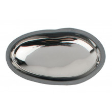 Pebble Dish W/Charcoal Clay Body Platinum Small | Gracious Style