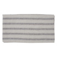 Kartena Short Damask Runner/Placemat Grey Stripe | Gracious Style