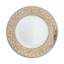 Ellington Shimmer Gold/Platinum Dinnerware | Gracious Style