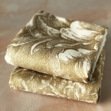 Peony Gold Kitchen Towels - Mixed Set of Two | Gracious Style