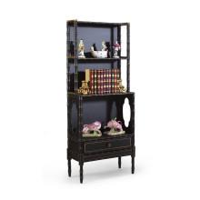 Bamboo Bookcase Black