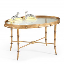 Gold Bamboo Cocktail Table