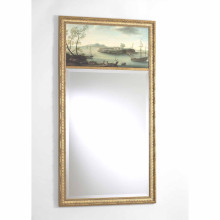 Classic Trumeau Mirror Island Hand Painted Oil