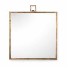 Square Mirror - Brass