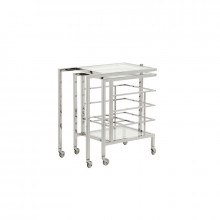 Rankin Bar Cart - Nickel