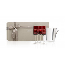 Coffrets Cadeaux Gift Box With A Champagne Bucket And Champagne Flutes | Gracious Style