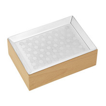 Madison 6 Silver Plated And Beech Wood Cards Box | Gracious Style