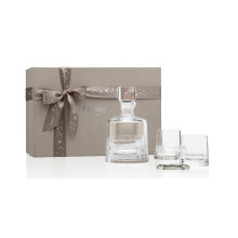 Coffrets Cadeaux Gift Box With A Crystal Whisky Decanter, Two Whisky Glasses And Two Coasters | Gracious Style