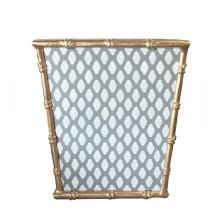 Grey Parsi Bamboo Wastebasket | Gracious Style